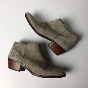 SAM EDELMAN Petty Leather Booties Ankle Boots